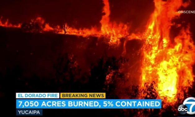 Chá revelação causa incêndio na Califórnia, por uso de aparelho de fumaça
