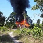 Casa pega fogo na localidade de Cupijó em Cametá