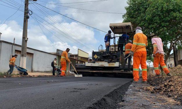 Obras de asfalto chegam a trecho da Avenida Rio Branco, em Tailândia