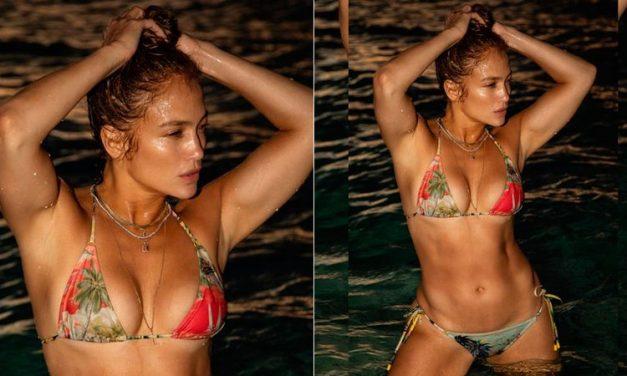 """Aos 51 anos, J-Lo exibe corpaço de biquíni e a web reage: """"Não tem mais sexy"""""""