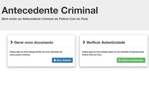 Polícia Civil emite gratuitamente Certidão de Antecedentes Criminais