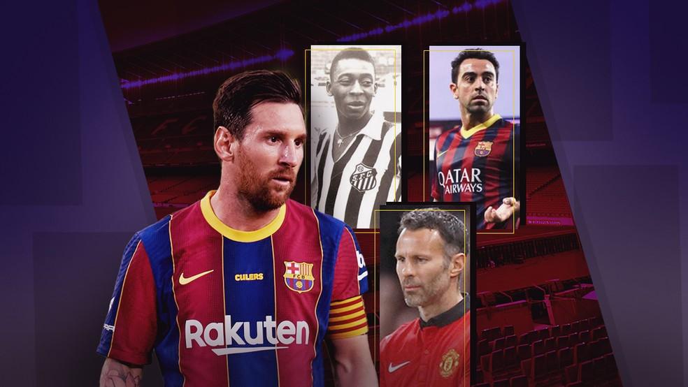 Pelé, Xavi, Giggs… Veja os recordes que Messi ainda persegue pelo Barcelona