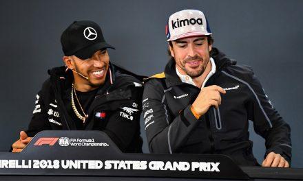 Para Fernando Alonso, antigo rival Lewis Hamilton não é o melhor piloto da história da F1