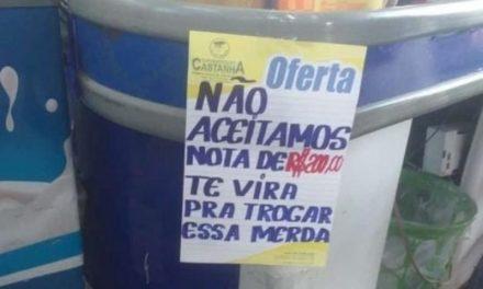 Após brincadeira com nota de R$200, funcionária é demitida de supermercado no Pará