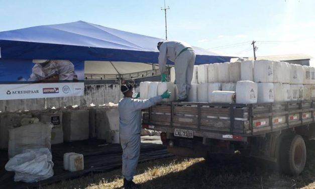 Adepará orienta produtores e fiscaliza descarte de embalagens de agrotóxicos