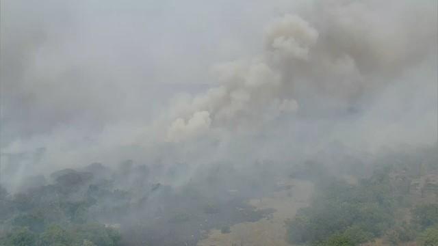 Parque Nacional da Serra do Cipó pega fogo há uma semana
