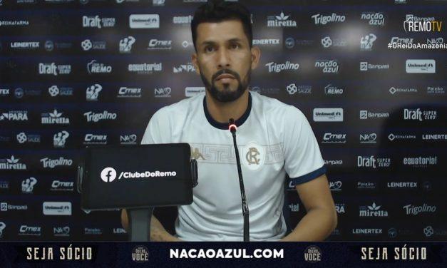 "Marlon comemora primeiro gol na volta ao Remo e revela dicas ""para passar tranquilidade"" a garotos"