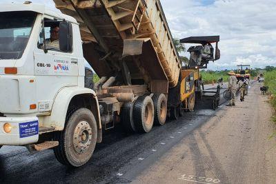Avança obra de reconstrução da PA-140, na região nordeste estadual