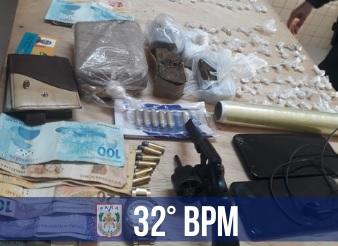 PM apreende drogas e captura foragido da Justiça em Cametá