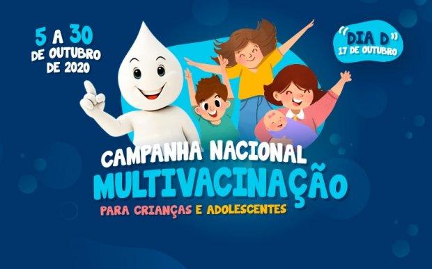 Campanhas nacionais de multivacinação e vacinação contra a poliomielite têm dia D neste sábado