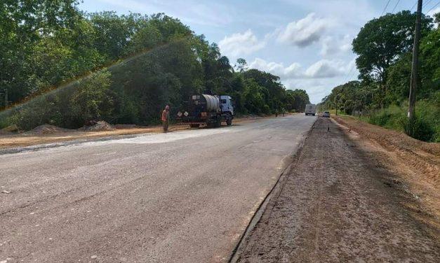 Setran finaliza obras de manutenção na PA-151, que dá acesso ao Trevo do Peteca
