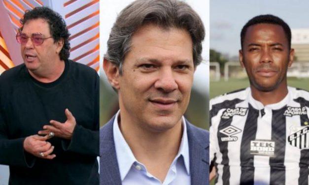 Acusado de racismo, Haddad se justifica por polêmica envolvendo Casagrande e Robinho