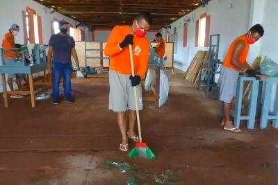 Capacitação ajuda internos a manter a limpeza das unidades penitenciárias