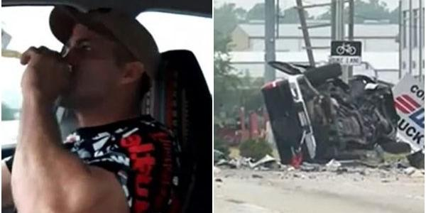 Dirigindo, homem faz live alcoolizado e mata três pessoas em acidente