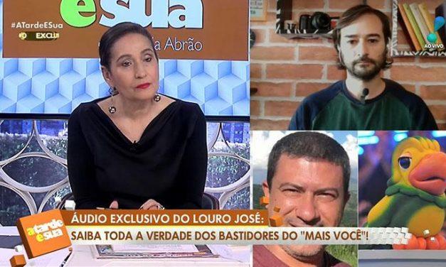 Sonia Abrão expõe queixa de Louro José com a Globo e é chamada de sensacionalista