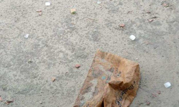 Chuva de granizo surpreende moradores da Vila Olho D'Água, em Moju