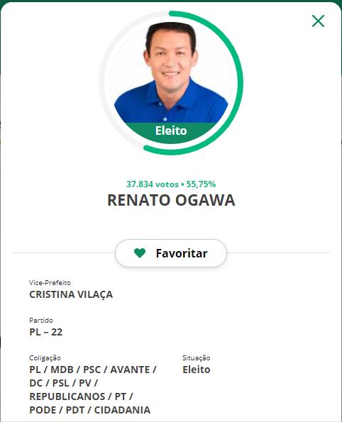 Renato Ogawa é o novo prefeito de Barcarena