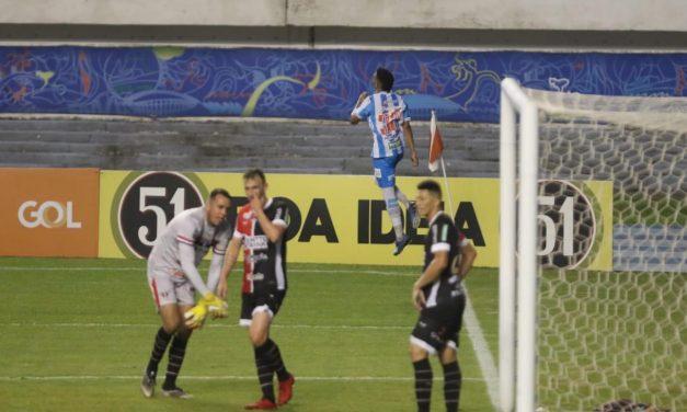 Paysandu vence o Ferroviário por 3 a 0, gols de Marlon, duas vezes, e Victor Feijão.