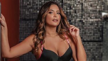 De fio-dental, Geisy Arruda esbanja bumbum empinado em clique sensual