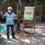 Palestra da Emater orienta produtores de Marituba sobre criação de galinha caipira