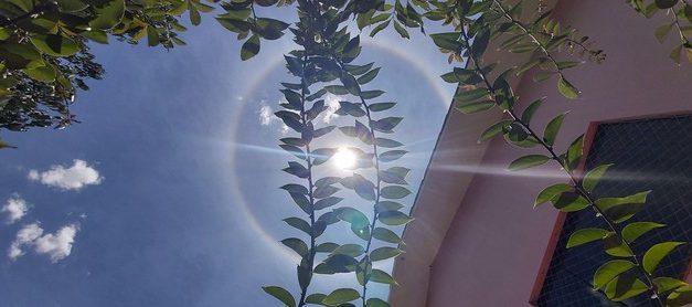 Halo solar no céu chama atenção de moradores no Paraná; veja as fotos