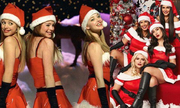 """Ex BBBs Bianca, Fly, Ivy e Marcela posam em foto natalina inspirada em """"Meninas malvadas"""""""
