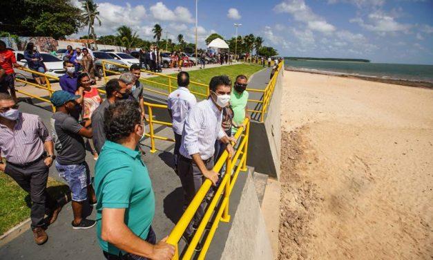 Orla de Salvaterra, na ilha do Marajó, ganha muro de contenção contra erosão