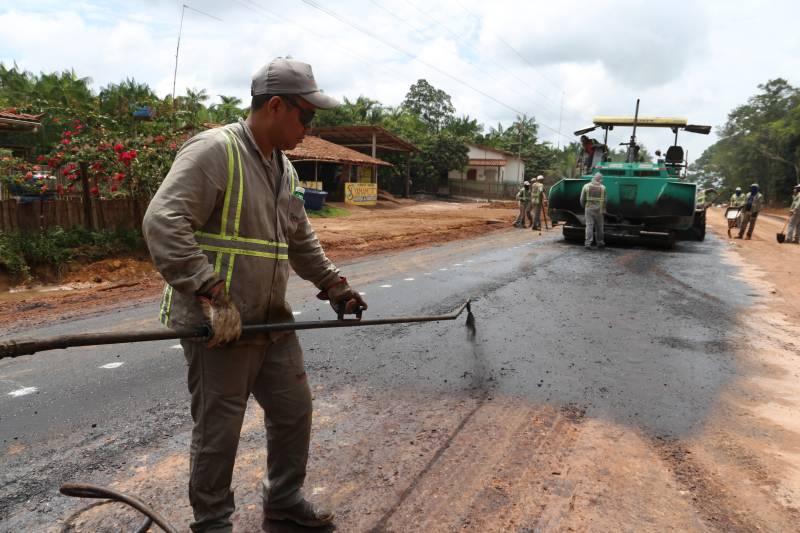 Obras na PA-483 garantem segurança na rota para Barcarena e ao Porto de Vila do Conde