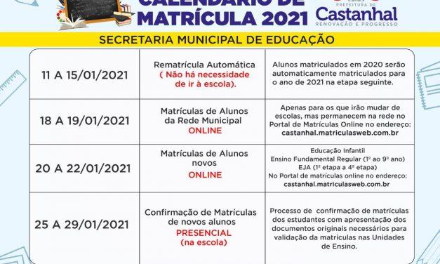Prefeitura inicia calendário de matrículas das escolas e creches da rede municipal