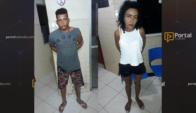 Mulher e jovem são presos por tráfico de drogas em Tailândia