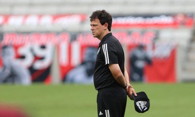 """Diniz tira peso de São Paulo x Inter após tropeços: """"Campeonato não vai terminar na quarta"""""""