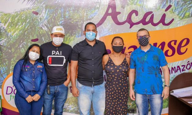 Prefeitura visita futuras instalações da fábrica da marca Açaí Paraense
