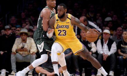 LeBron vence duelo com Giannis, e Lakers batem Bucks no encontro dos líderes das Conferências