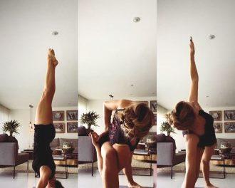 Grazi Massafera mostra prática de ioga online