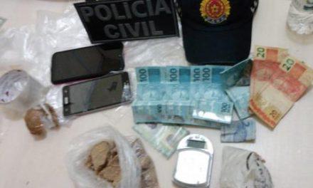 Ação conjunta de polícias combate o tráfico de drogas, em Salvaterra