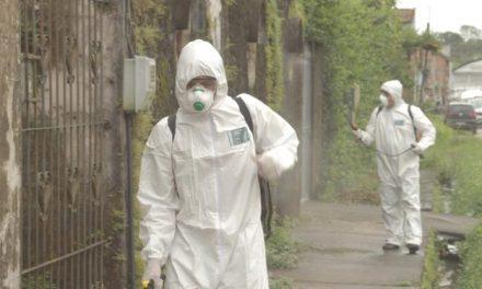 Marituba promove a desinfecção de ruas para evitar proliferação do coronavírus