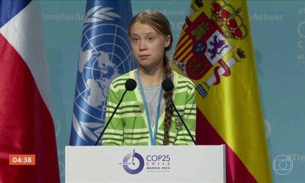 Greta Thunberg doa US$ 100 mil para a luta contra o coronavírus