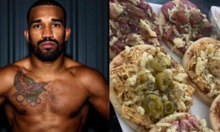 Boxeador Esquiva Falcão entrega pizzas feitas pela esposa