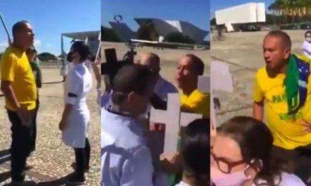 Bolsonarista que atacou STF também agrediu enfermeiros em protesto
