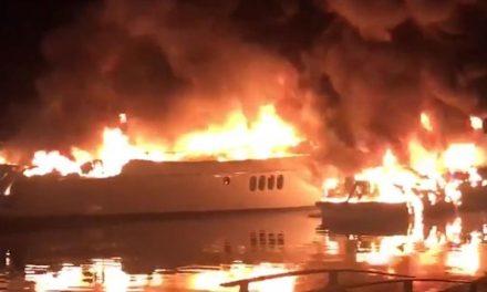 Lanchas pegam fogo em condomínio em Angra dos Reis (RJ), diz TV