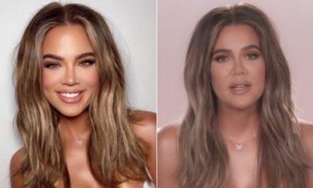 """Internautas notam """"excesso de photoshop"""" em foto de Khloé Kardashian: """"Outra pessoa"""""""