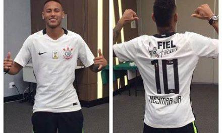 """Tiago Nunes vê Neymar no nível de Messi e CR7 e brinca: """"Muito bem-vindo no Corinthians"""""""