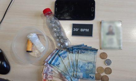 30º BPM prende suspeito de tráfico no bairro Águas lindas, em Ananindeua