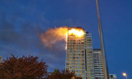 Incêndio atinge andares superiores de prédio em Madri; não há feridos