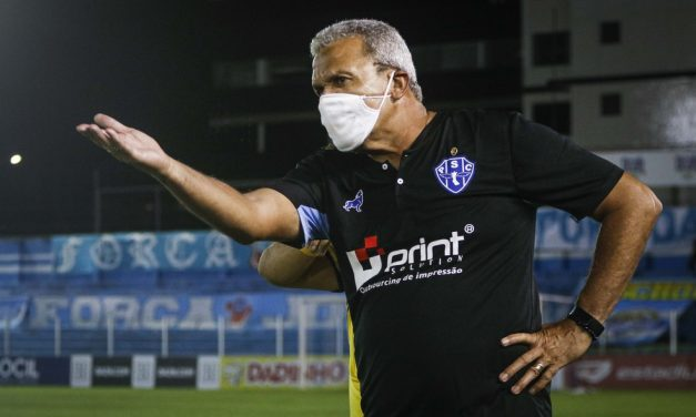 """Falta de mobilidade ofensiva irrita Hélio dos Anjos em derrota do Paysandu: """"Estou preocupado"""""""