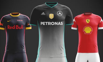 Fórmula 1 mostra projeto com uniformes de equipes como se fossem times de futebol; confira