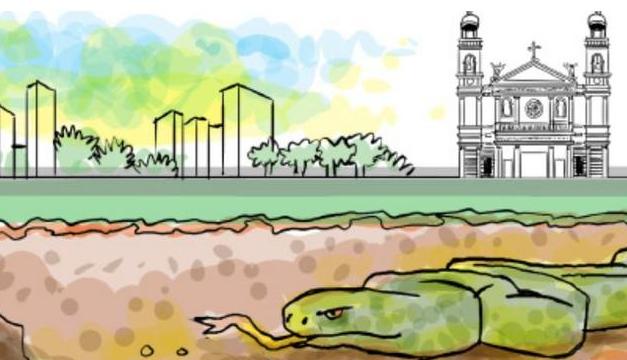 Lenda da cobra grande no Círio atiça imaginário popular em tempos de pandemia