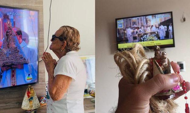 De casa, internautas compartilham emoção de viver o Círio a distância