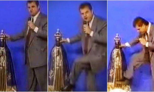 Há 25 anos, bispo chutava imagem de Nossa Senhora na TV