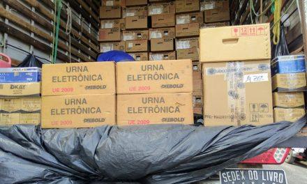 Bragança recebe novas urnas eletrônicas